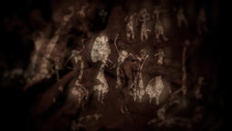 Native Cave Paintings from Prehistorical Stone Age Animation
