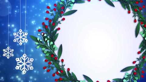 Winter Frame Background 04 Animation