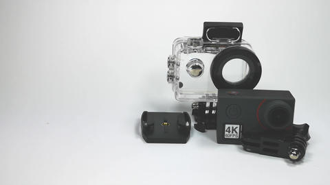 4k action camera with accessories Footage