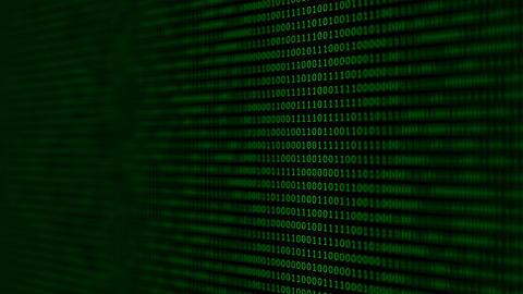 Binary code black and green animation Animation