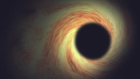 Black hole animation or black hole video worm in black space with stars Animation