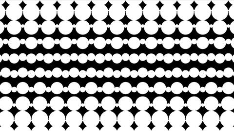 Polka dot pattern animation. Modern geometrical circle. Loop animation Animación
