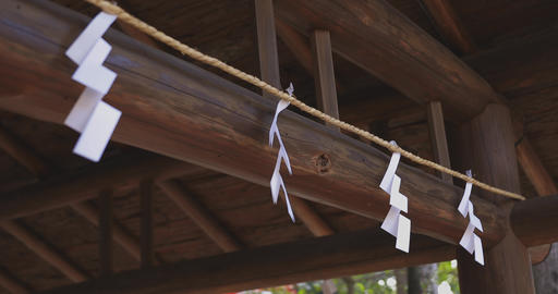 Purification trough at Japanese traditional shrine ライブ動画