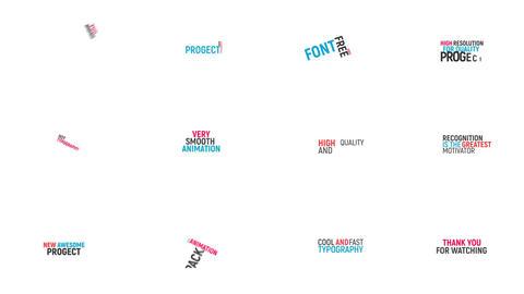 Kinetic Typography モーショングラフィックステンプレート