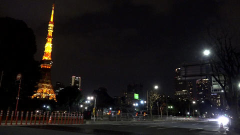 Tokyotower time lapse Footage