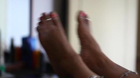 Female Legs on Massage Footage