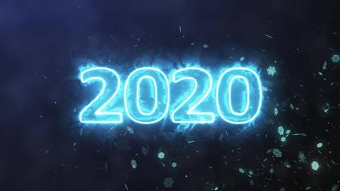 Number 2020 plasma Animation