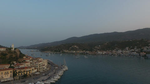 Aerial view of Poros island in Greece 5 Footage