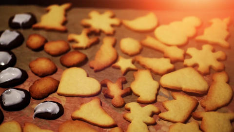 baking christmas cookies - xmas bakery - festive winter celebration Live Action