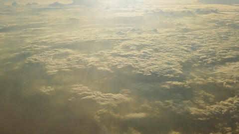 Aerial view of clouds from plane Footage