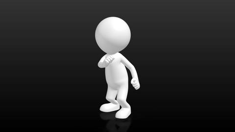 funny 3D Human character dancing the twist Stock Video Footage