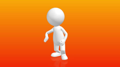 funny 3D Human character dancing the twist Animation
