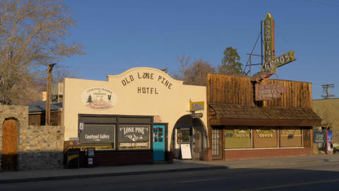 Old Lone Pine Hotel - LONE PINE CA, USA - MARCH 29, 2019 Footage