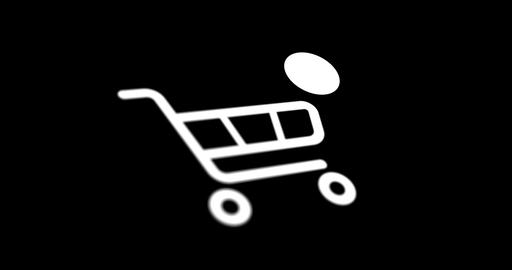 shopping cart icon with counter added online commodity on…, Live Action