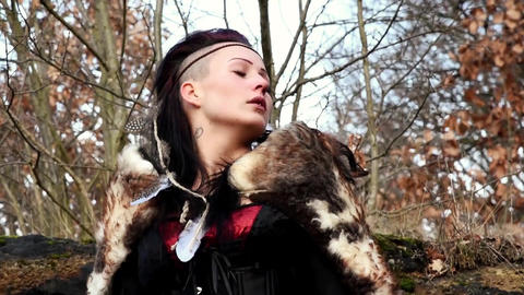 Celtic Woman In Autumn Landscape Vol2 2