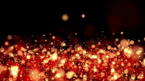 Abstract Gold Particles Glitter Glamour Animation