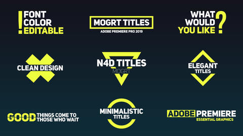 Kinetic Typography - Animated Titles Motion Graphics Template