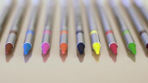 Solid Graphite Pencils Pan Footage