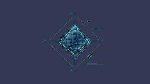 Infographic Element - Rhombus Scheme Animation