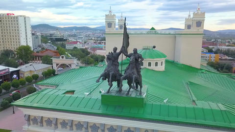 Aerial view of the city. aerial survey. Ulan-Ude city Footage
