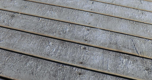 Frost on wooden boards Footage