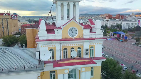Aerial view of the city. aerial survey. Ulan-Ude city Archivo