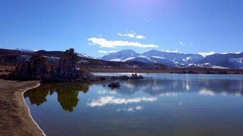 Mono Lake California with its Tufa columns - travel photography Footage