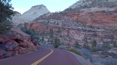 The mountains of Zion Canyon National Park in Utah - travel photography Live Action