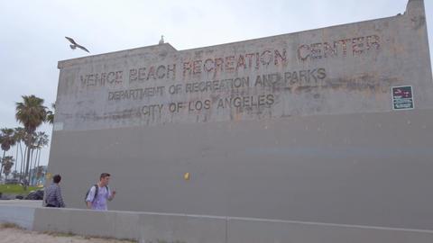Venice Beach Recreation Center - LOS ANGELES, USA - APRIL 1, 2019 Live Action