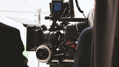 Behind the shooting or filming video movie production フォト