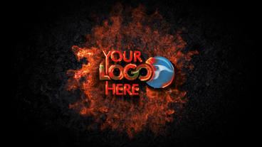 Fire Impact Logo Reveal After Effects Template