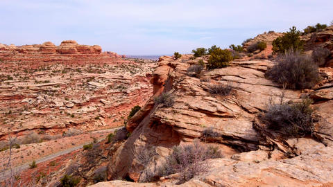 Driving through Arches National Park - travel photography Live Action