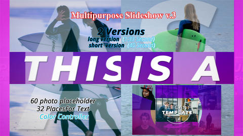 MultiPurpose slideshow V. 3 After Effects Template