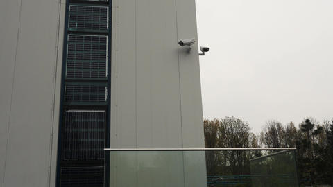Building security systems with alarm unit and surveillance cameras Footage