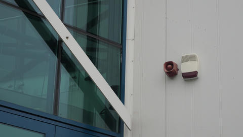Fire and efraction alarm units on the building Footage