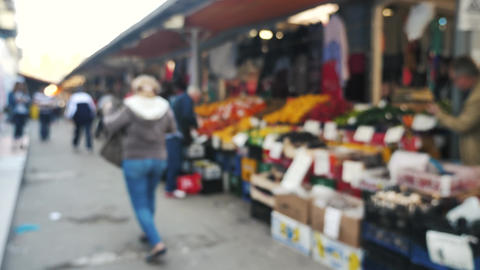 People at the market Footage