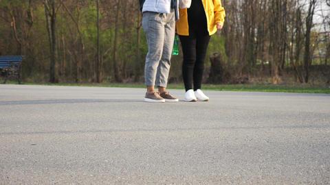 People walking in the park Footage