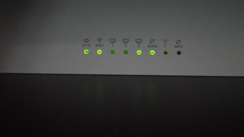 Router clipping network lights Footage