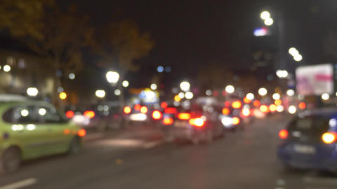 Standing traffic in the city at night Footage