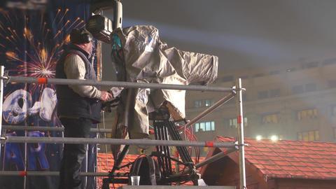 TV camera operator Footage