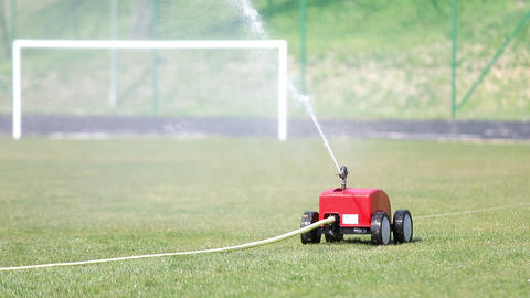 Automatic watering of grass Live Action