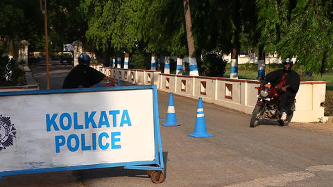 Traffic Police signs Footage