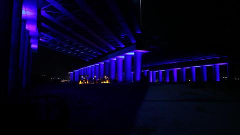 Train on the Bridge night ビデオ
