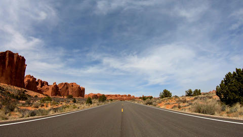 Road trip at Snow Canyon in Utah Live Action