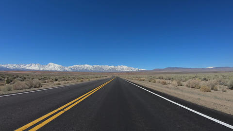Drive through Inyo County and Yosemite in California Footage