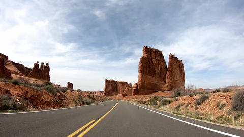 Road trip at Arches National Park in Utah Live Action