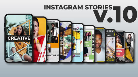 Instagram Stories v 10 After Effects Template