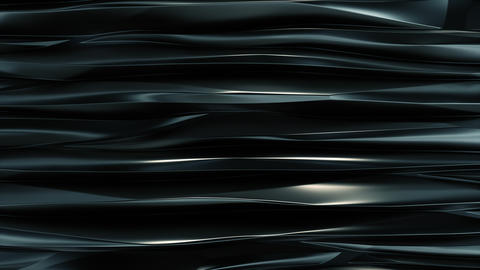 Wavy bands Background reflective Dark blue metal top view Stock Video Footage