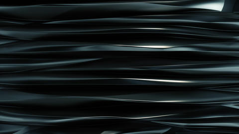 Wavy bands Background reflective Dark blue metal top view Animation