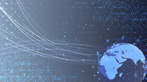 Earth on Digital Network 18 N2Gx 4k Animation